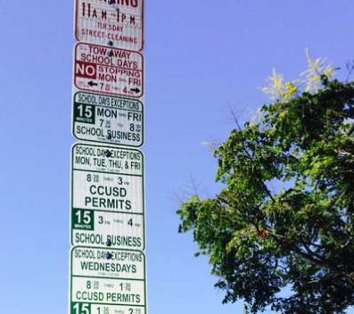 EasyDoesItParkingSign