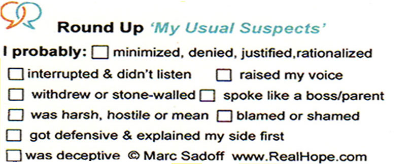 Round Up 'My Usual Suspects' card- Front
